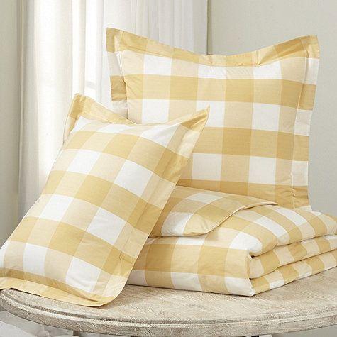 Gwyneth Buffalo Check Bedding Ballard Designs Buffalo Check Bedding Yellow Bedding Linen Bedding
