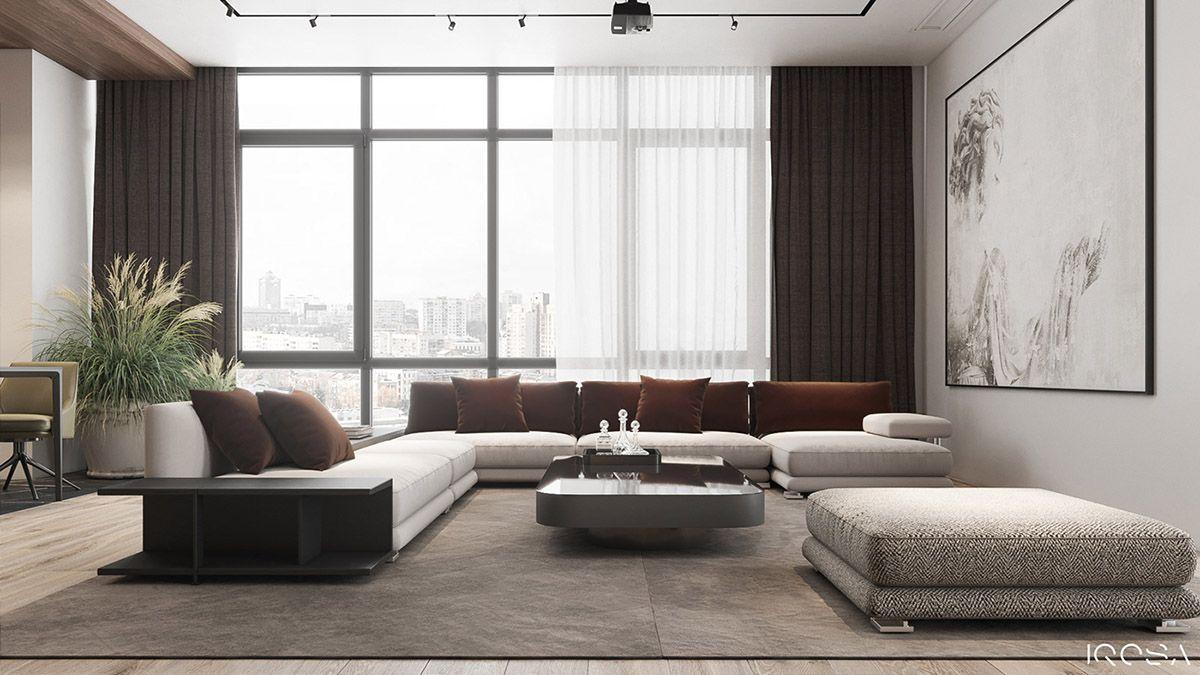 Classy Interior Designs With Slick Dark Accent Pieces Interior