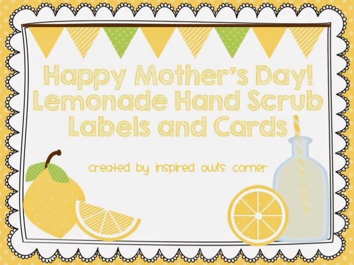 FREEBIE Mother's Day Lemonade Sugar Scrub Labels