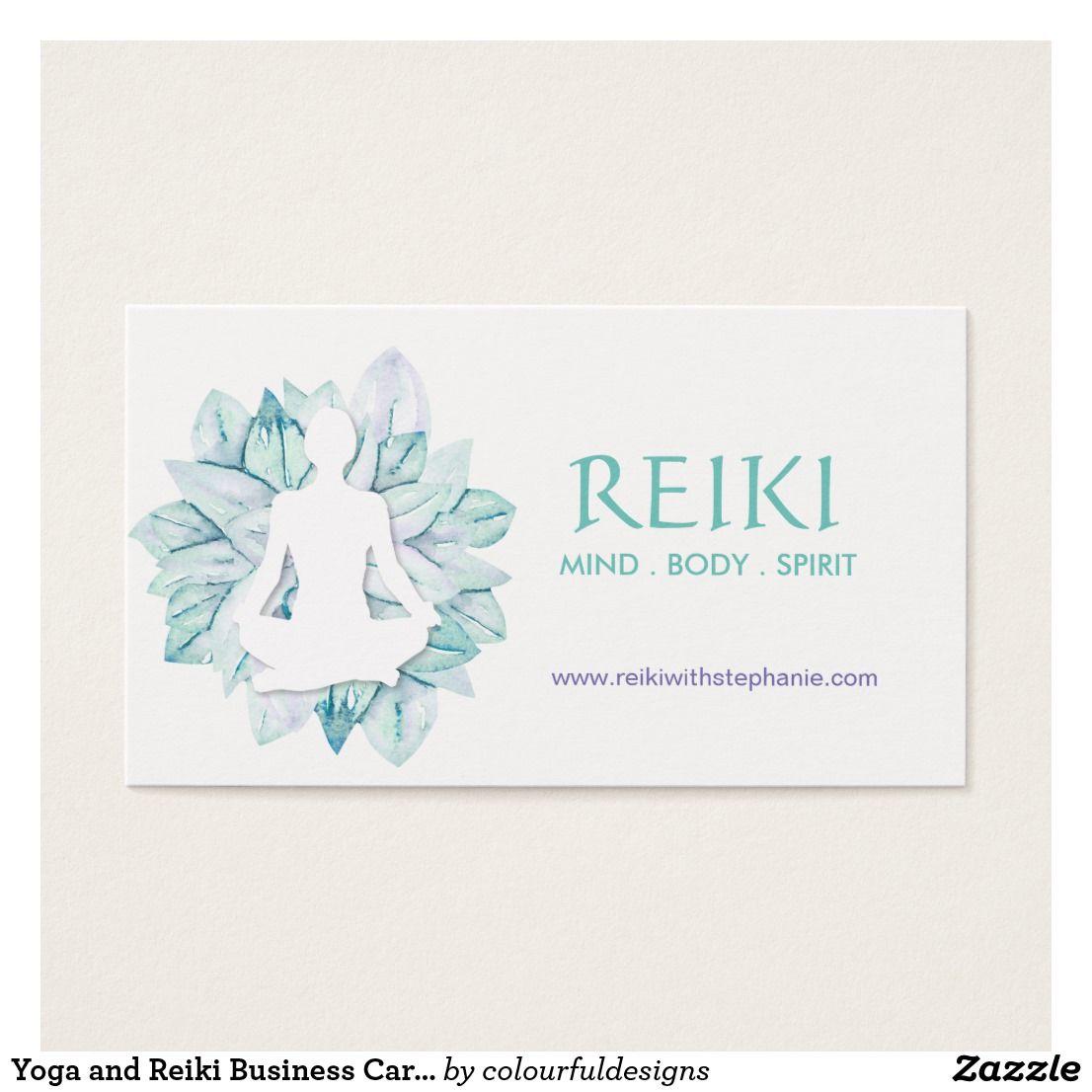 Yoga and Reiki Business Cards | Custom Yoga Instructor/Teacher ...