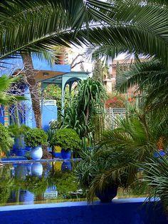 Jardin Majorelle Marrakech Maroc Plus Beaux Jardins Pinterest