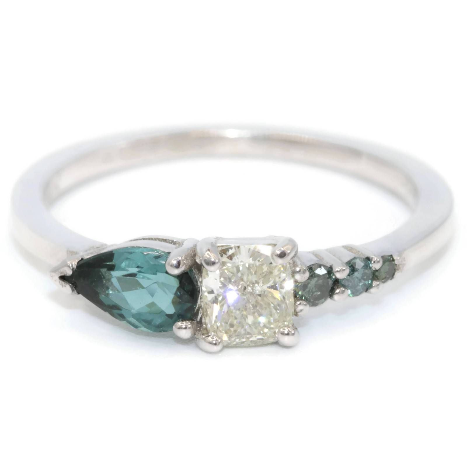 Peacock asymmetrical cluster ring cluster ring diamond cluster