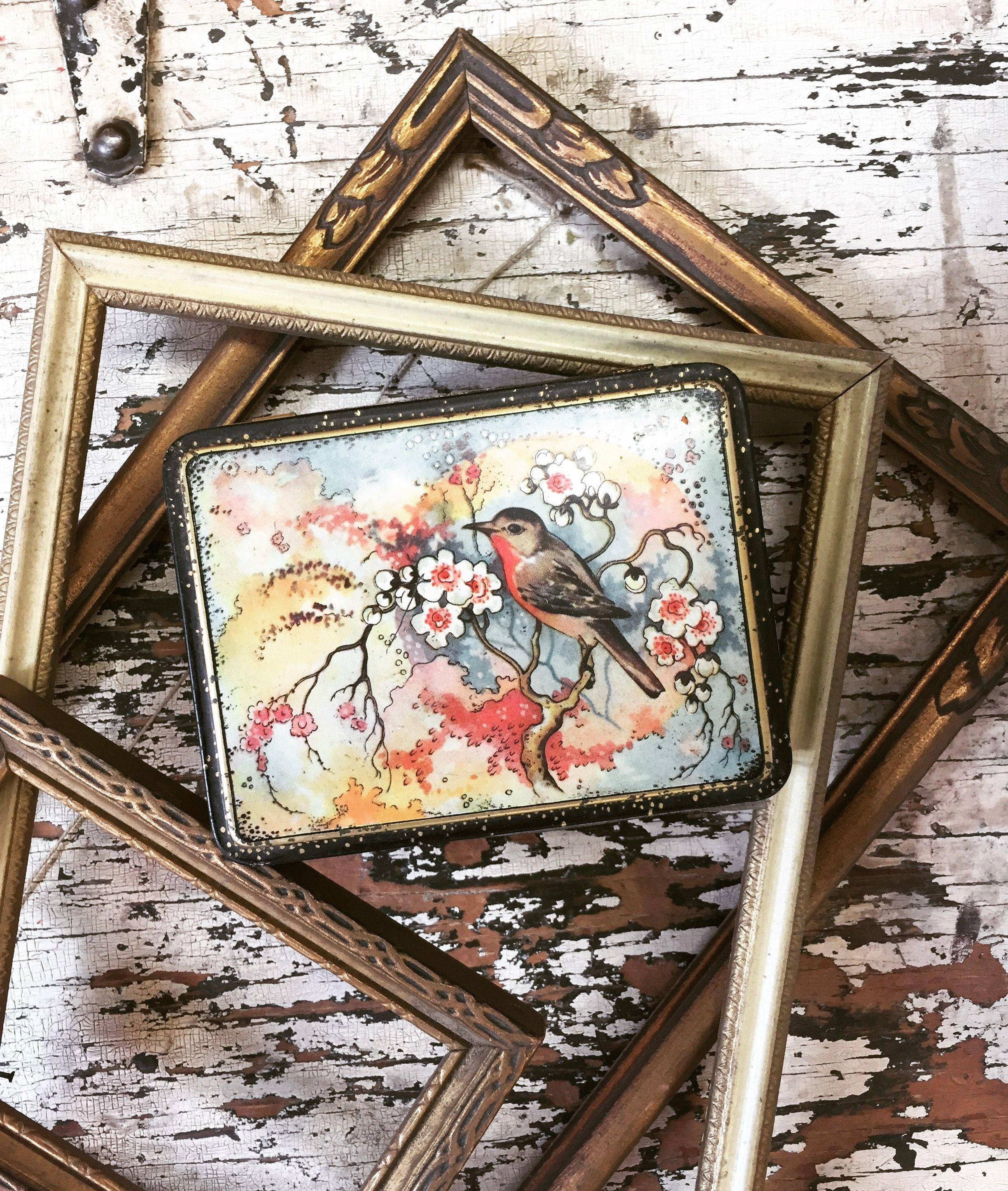Frames and vintage tins