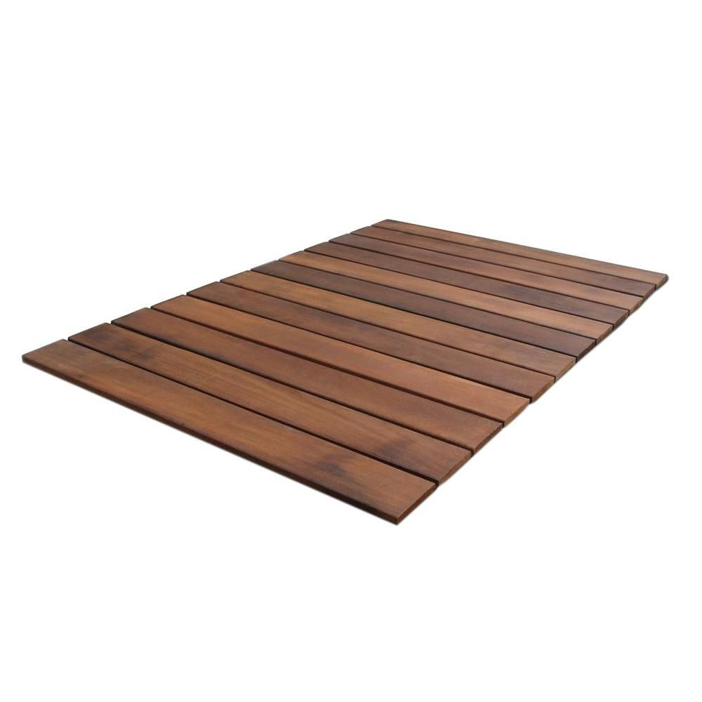 Mat 2 ft x 3 ft roll out wood deck tile in brown color patios roll out wood deck tile in brown dailygadgetfo Choice Image