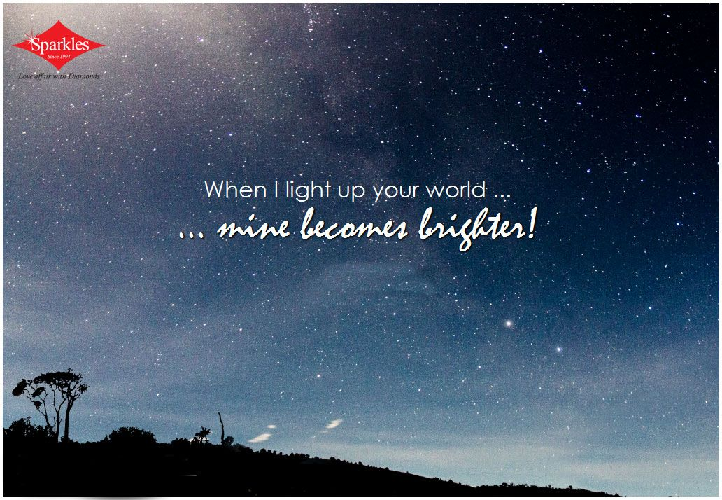 Bright quotes · When i light up ... & When i light up your world...mine becomes brighter! # Quotes ... azcodes.com