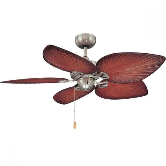 Majestic Little Bay Ceiling Fan In Brushed Chrome Hunter Pacific