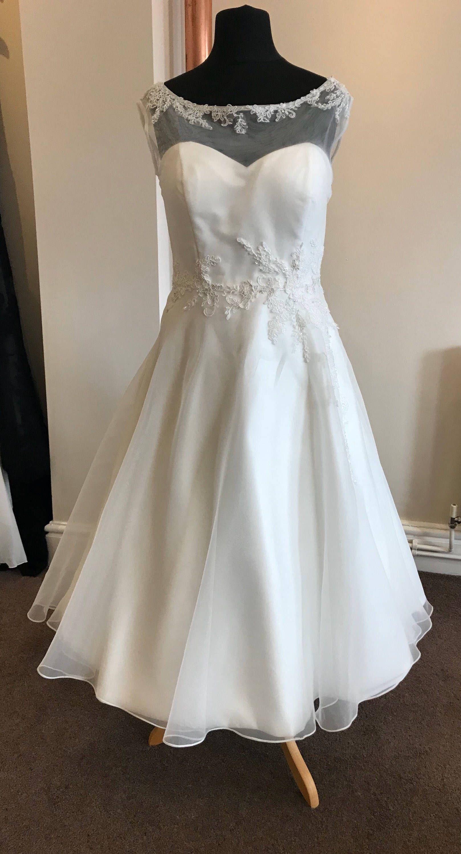 Tea Length Wedding Dresses Size 14