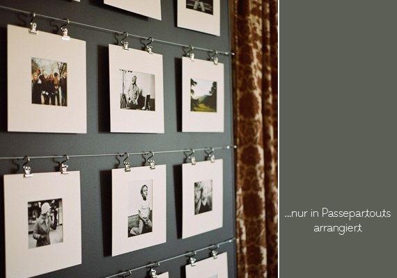 Wohin mit den Hochzeitsfotos? Na an die Wand Wand, Walls and DIY
