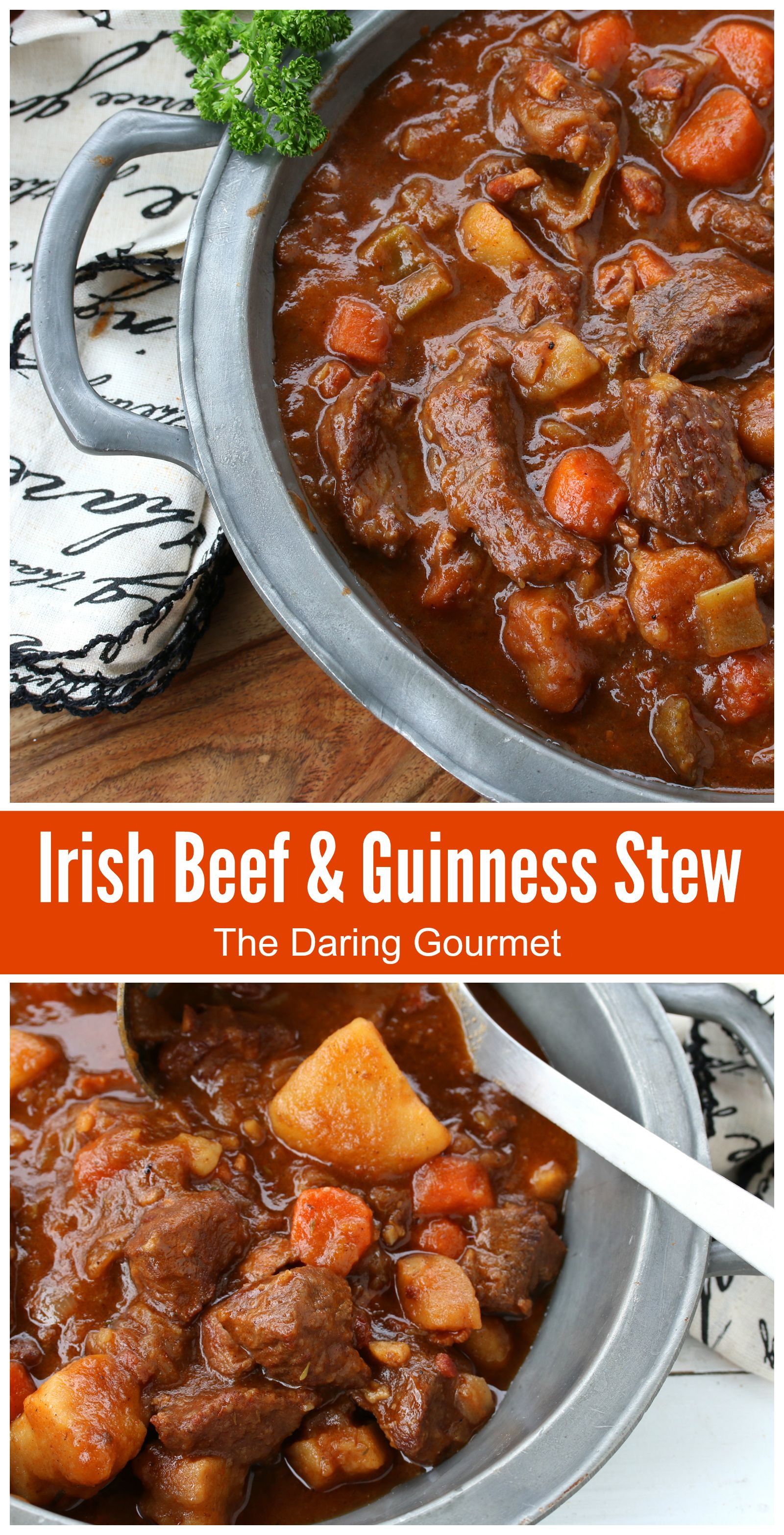 Traditional Irish Beef And Guinness Stew Recipe Guinness Beef Stew Irish Beef Pub Food