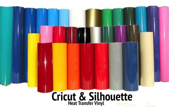 Heat Transfer Vinyl 15 X 5 Feet 30 Colors Made For Silhouette Cameo Cricut Decals Free Shippi Vinyl Crafts Vinyl Signs Vinyl Rolls