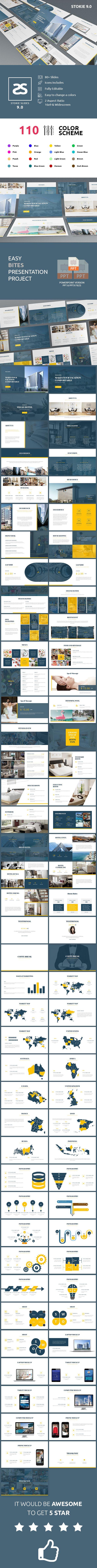 Hotel Vegas Powerpoint Template Keynote Template Vegas Hotel Presentation Slides Templates