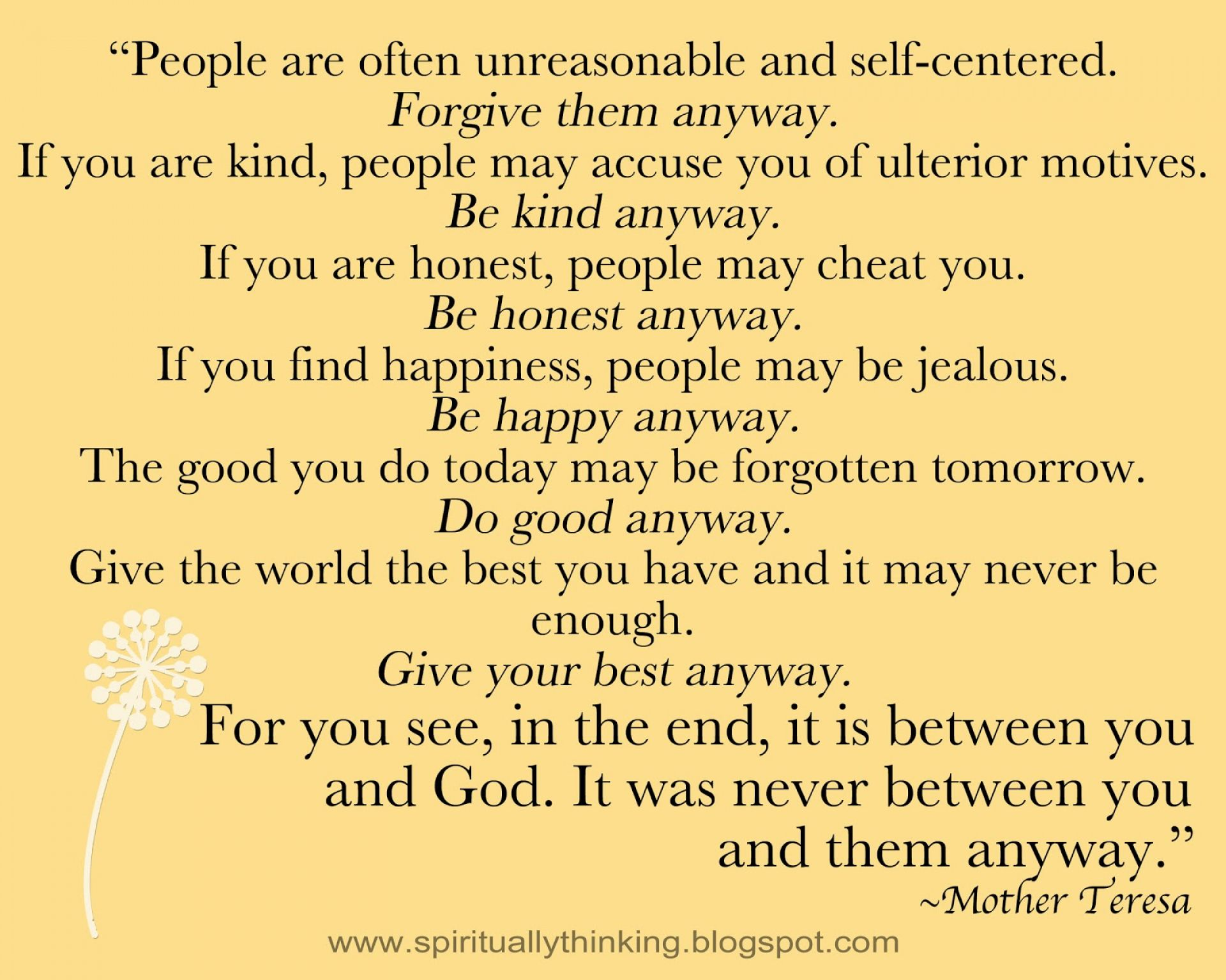 Mother Teresa Quotes Life Image Result For Mother Teresa Quotes Love Them Anyway  Sayings