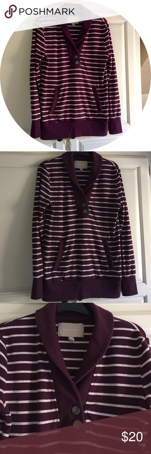 BANANA REPUBLIC Striped Pullover Sweater | Shape, Signs and Stripes
