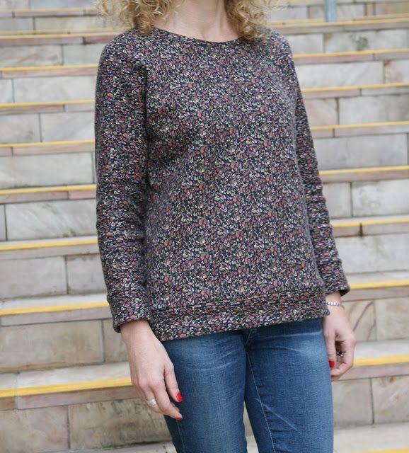 Tessuti Fabrics - Grainline Studio Linden Sweatshirt in Liberty Fleece