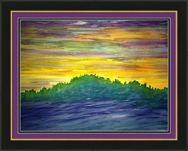 Abstract Sunset by Breena Briggeman