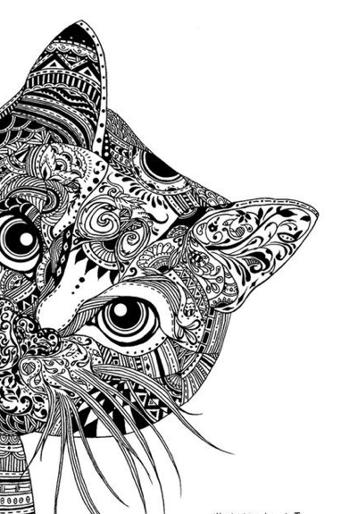 make an animal black and white zentangle coloring page sheet - Zentangle Coloring Pages