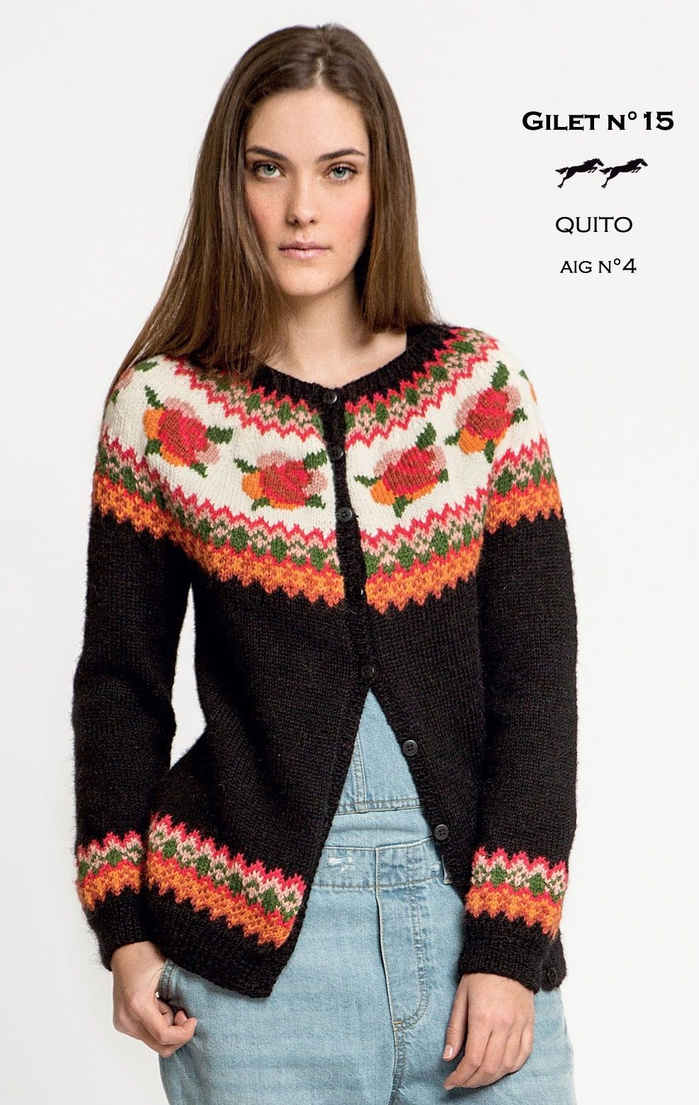 dc68db0a0 Free Knitting Pattern for a Rose Fair Isle Yoke Cardigan