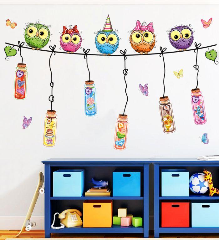 New Owl Autocollants Pour Enfants Chambres Enfants Nurseries