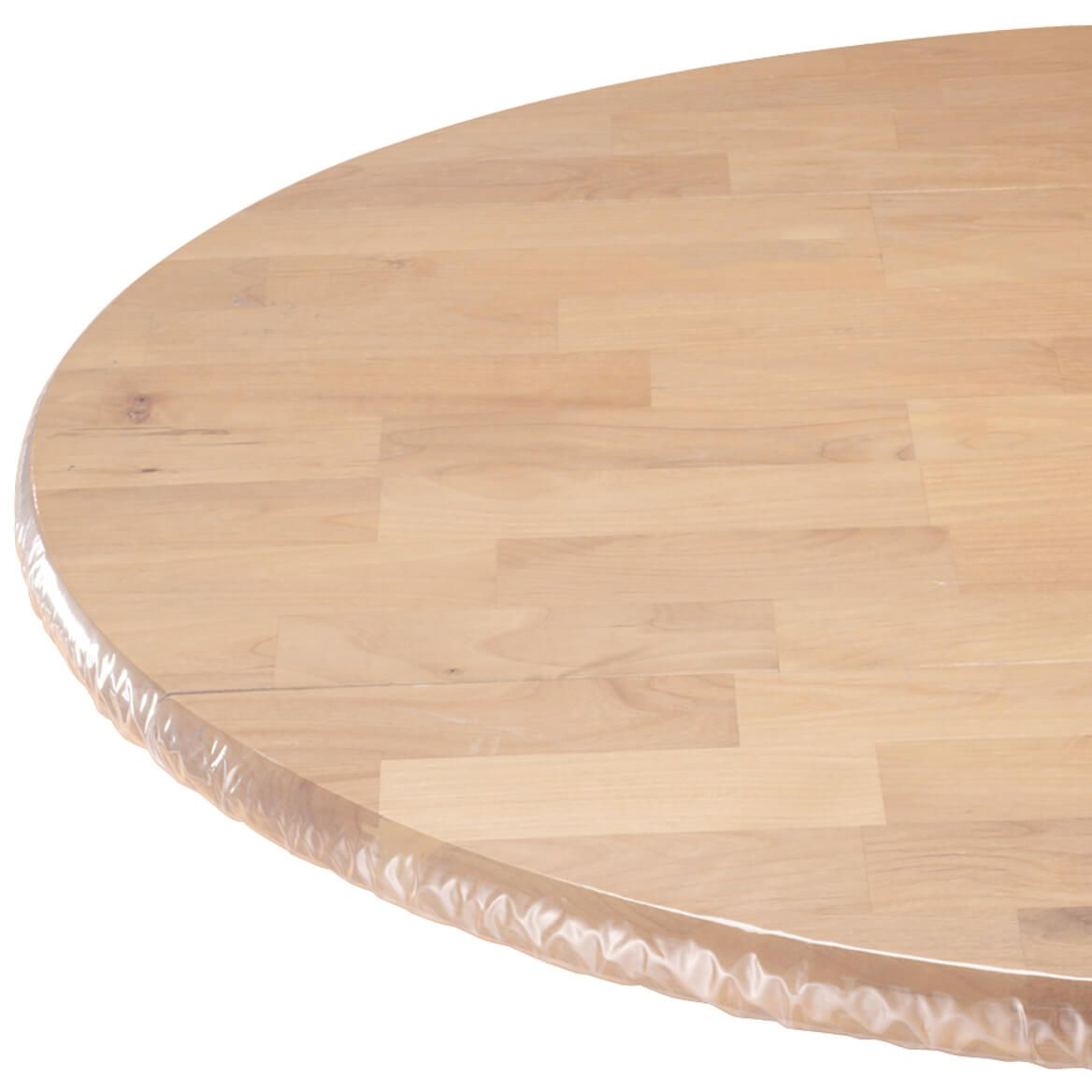 Walter Drake S Clear Elasticized Table Cover Provides A Snug Fit