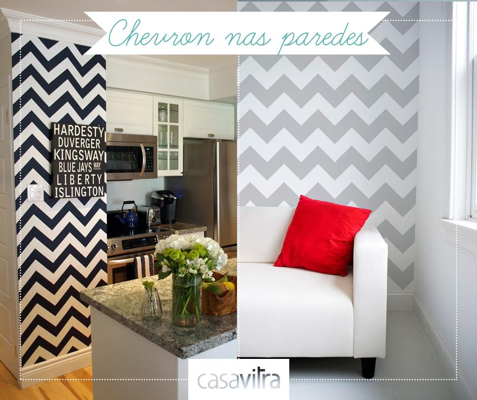 Que tal fazer em casa uma parede em zig zag? A estampa, também chamada Chevron, é irreverente e moderna!