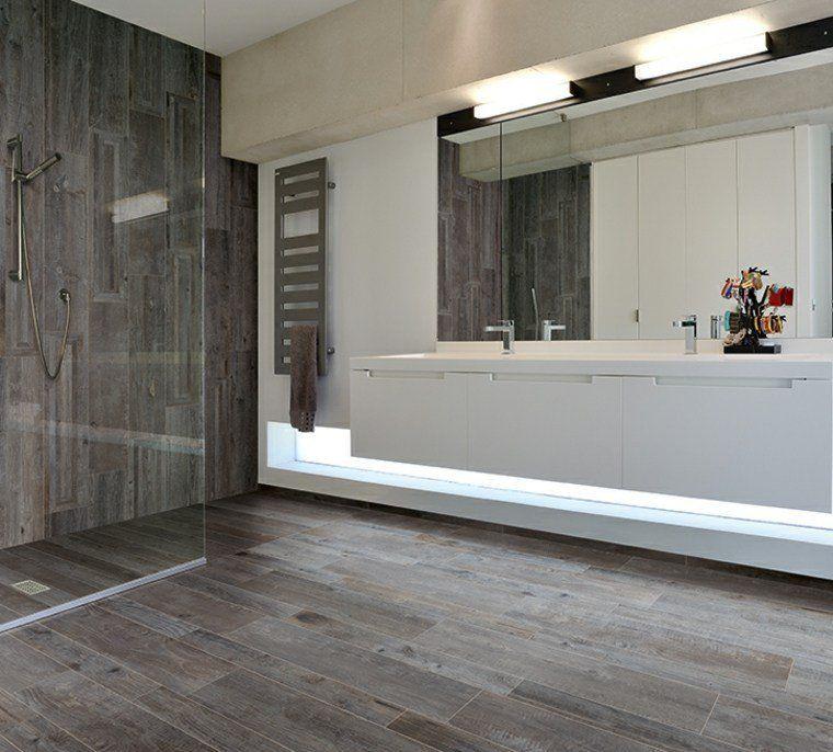 Emejing Salle De Bain Parquet Gris Photos - Amazing House Design ...