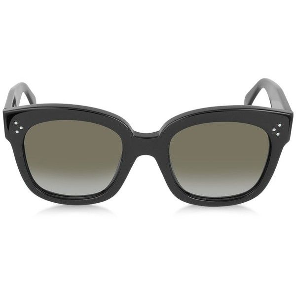33448ce0b9e8 Celine Sunglasses CL41805 S New Audrey Black Acetate Sunglasses (356 CAD) ❤  liked