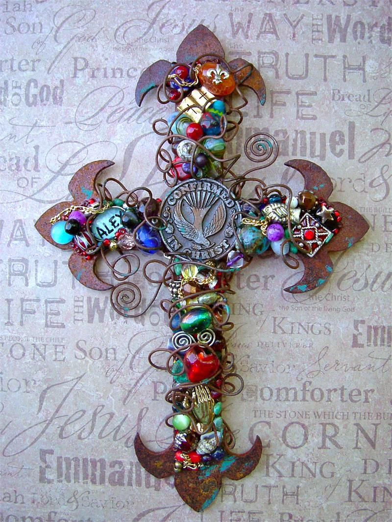 Rusty Personalized Confirmation Wall Cross for a Boy or Girl ...