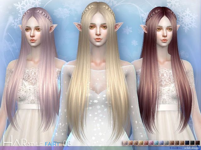 Sims 4 Cc S The Best Fairy Hair By S Club Feen Frisuren Fantasiefrisur Sims 4