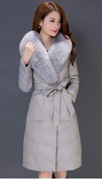 Winter Luxury Fox Fur Leather Jacket