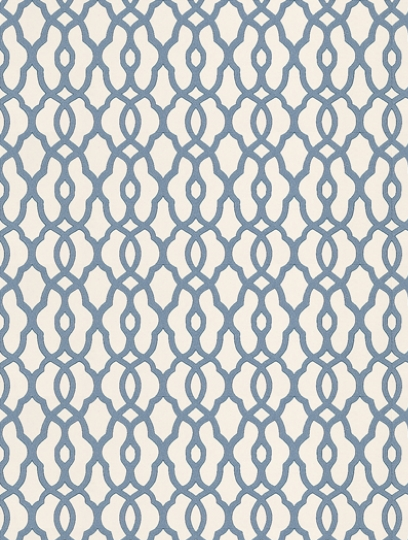 Morocco Indigo, a feature wallpaper from Prestigious, featured in the Neo collection.