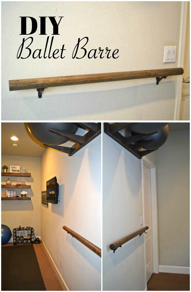 How To Make And Install A Ballet Barre Hometalk Funky Junk