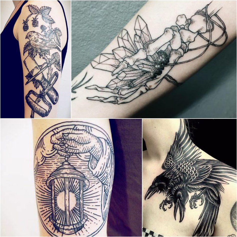 Etching Tattoo Linework Highly Addictive And Endless Level Of Details Etching Tattoo Line Work Tattoo Woodcut Tattoo
