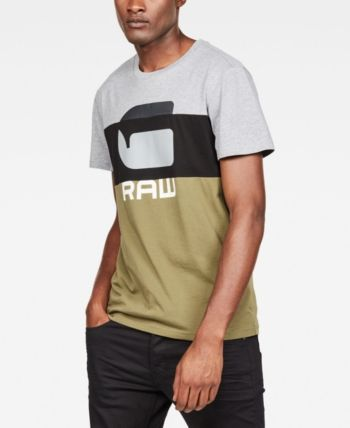 G Star Raw Men's Graphic 41 Colorblocked Logo T Shirt
