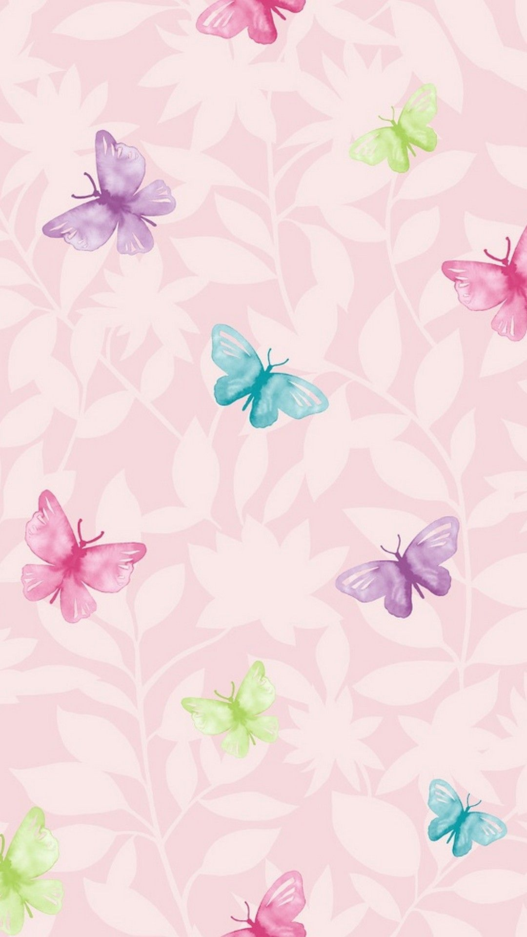 Wallpaper Pink Butterfly Mobile