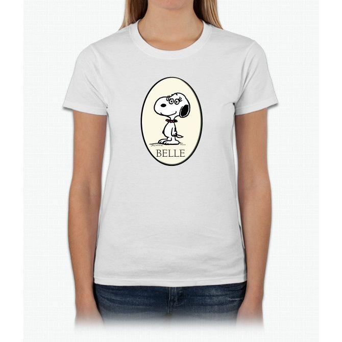 Belle Charlie Brown Ladies T-Shirt