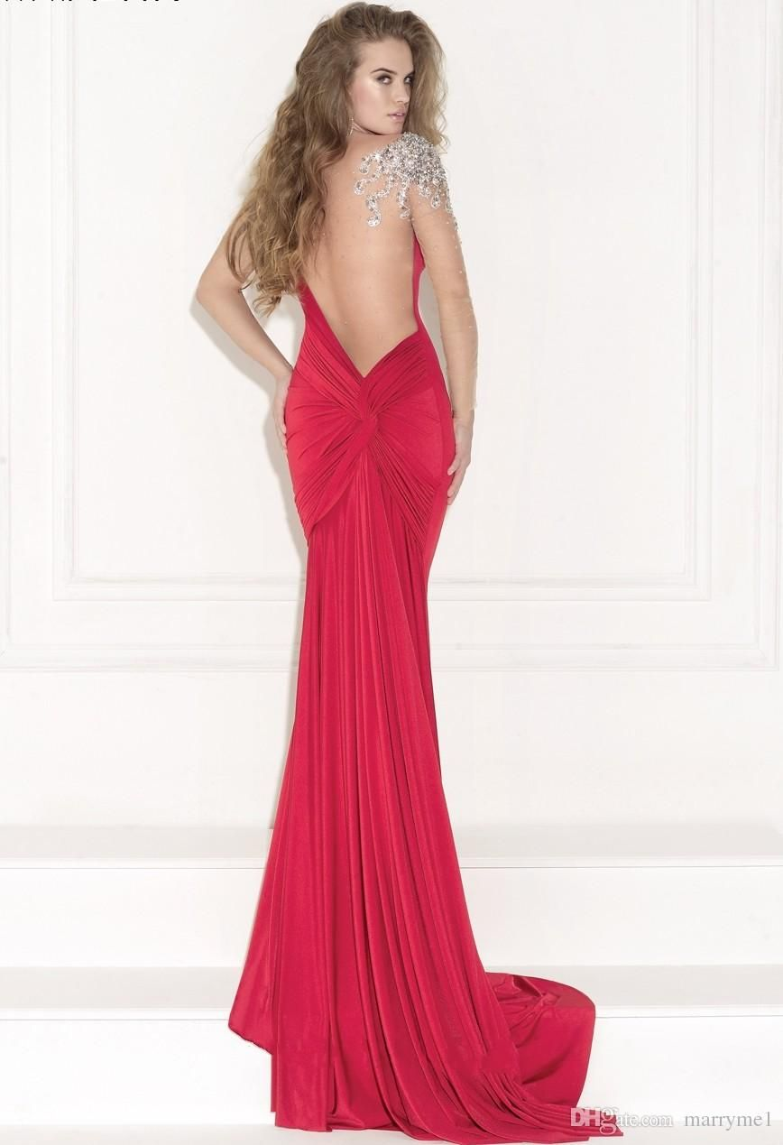 Long red evening dress sexy sale fashion black mother of the bride