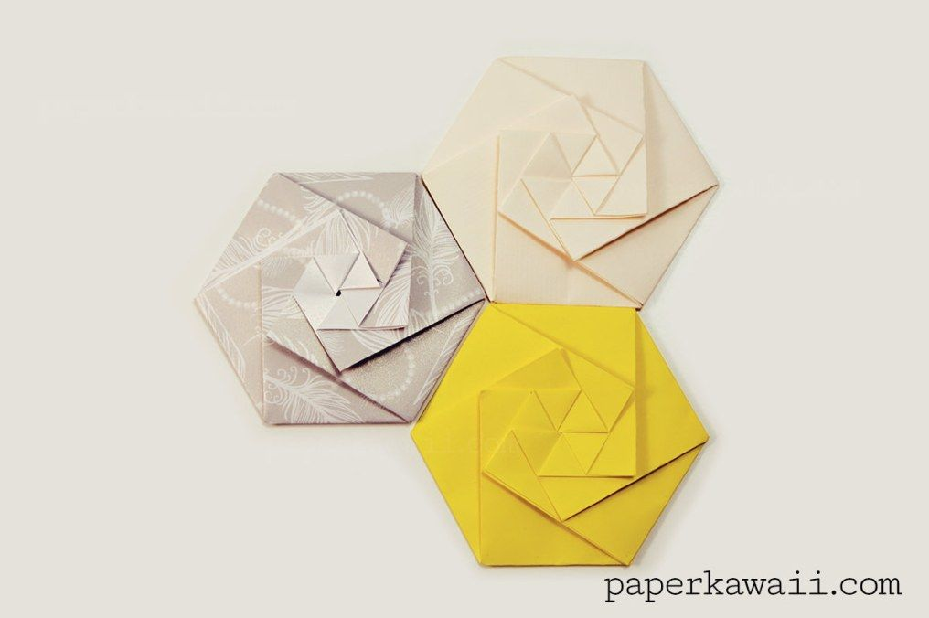 Learn How To Fold A Sophisticated Origami Hexagonal Envelope Watch The Video Tutorial Or Download