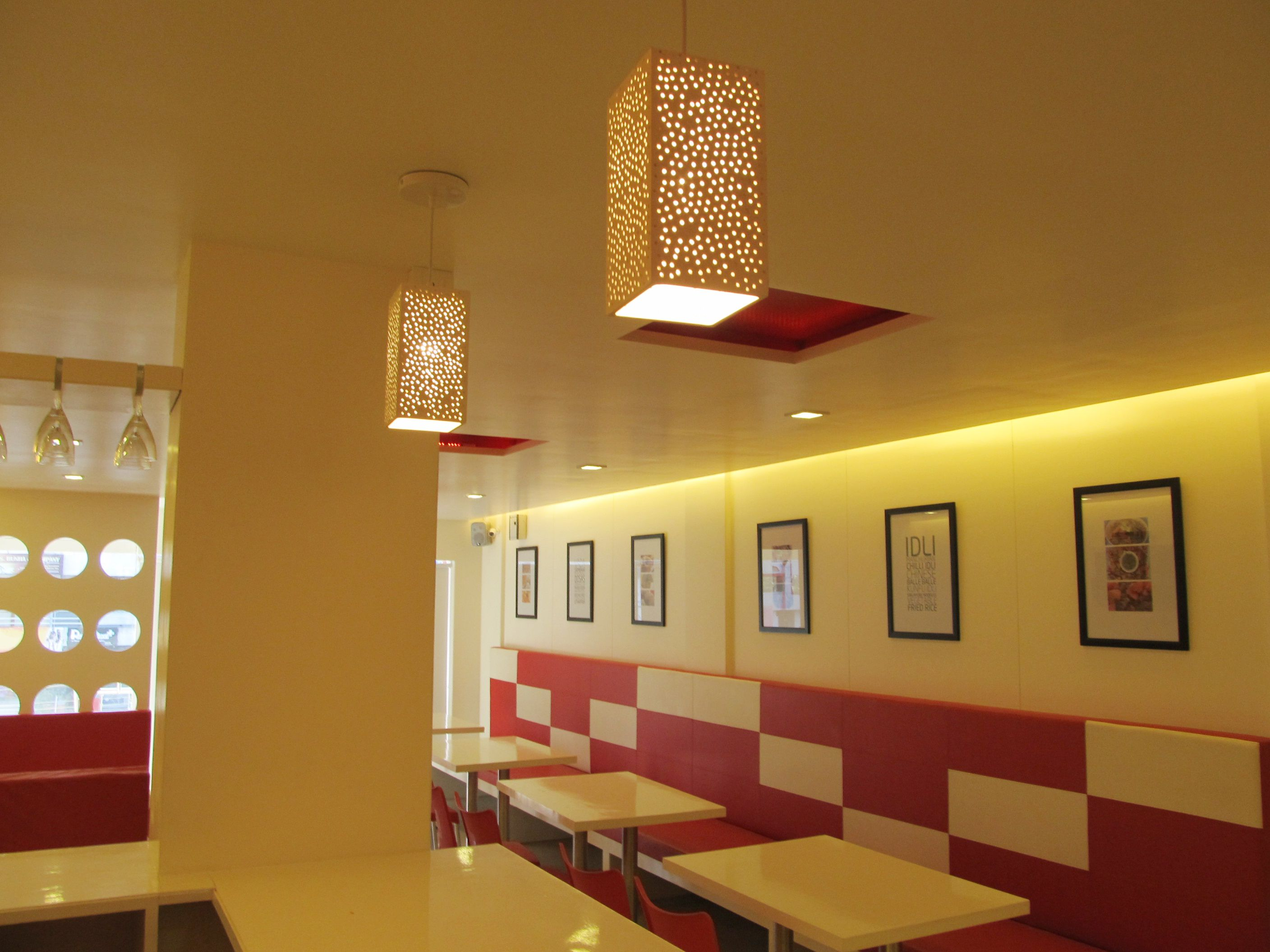 hotel interiors in red & white colour combination | hotel ...