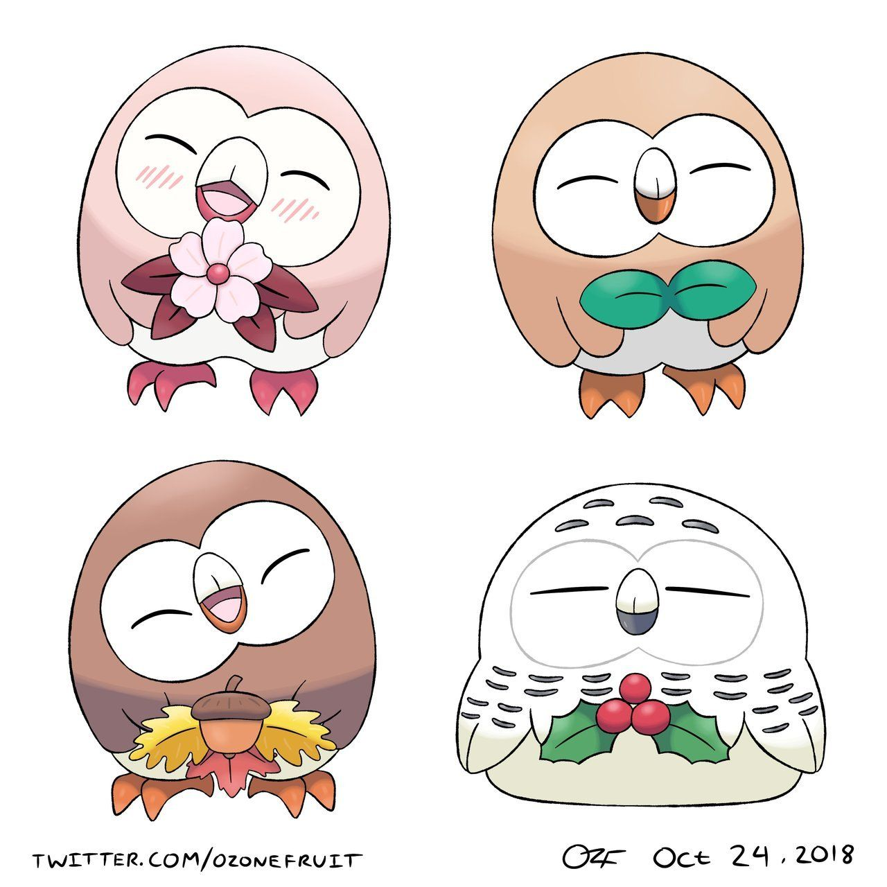 Seasonal Rowlets by OzoneFruit -