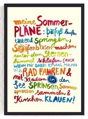 #meine sommerpläne | Sommer sprüche, Sprüche
