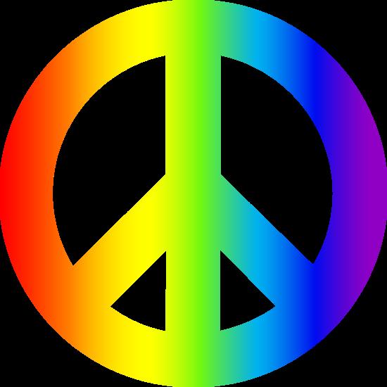 peace signs | Rainbow Peace Sign - Free Clip Art | birthday ideas ...