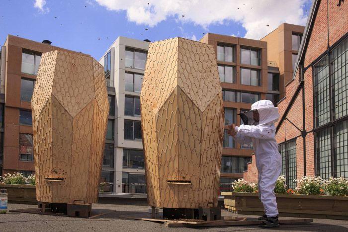 vulkan beehive les ruches urbaines par snohetta architecture pinterest r colte en ville. Black Bedroom Furniture Sets. Home Design Ideas