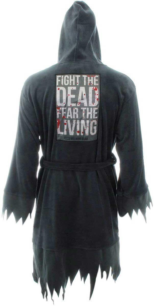 The Walking Dead Don't Open Dead Inside Hooded Fleece Bademantel: Amazon.de: Küche & Haushalt