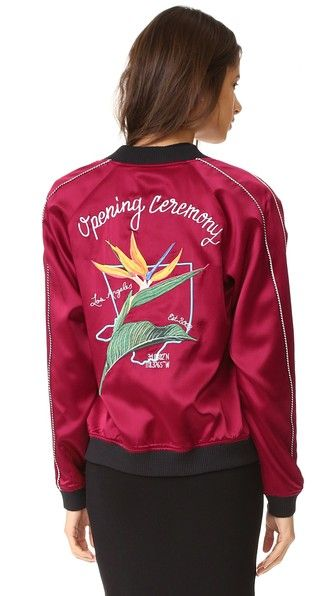 Opening Ceremony LA Reversible Bomber Jacket