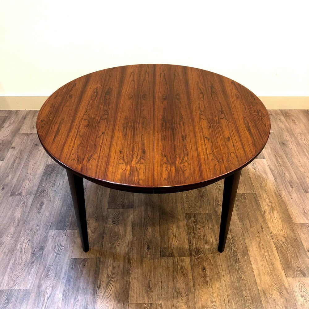 Details About Danish Rosewood Extendable Dining Table Gunni Omann
