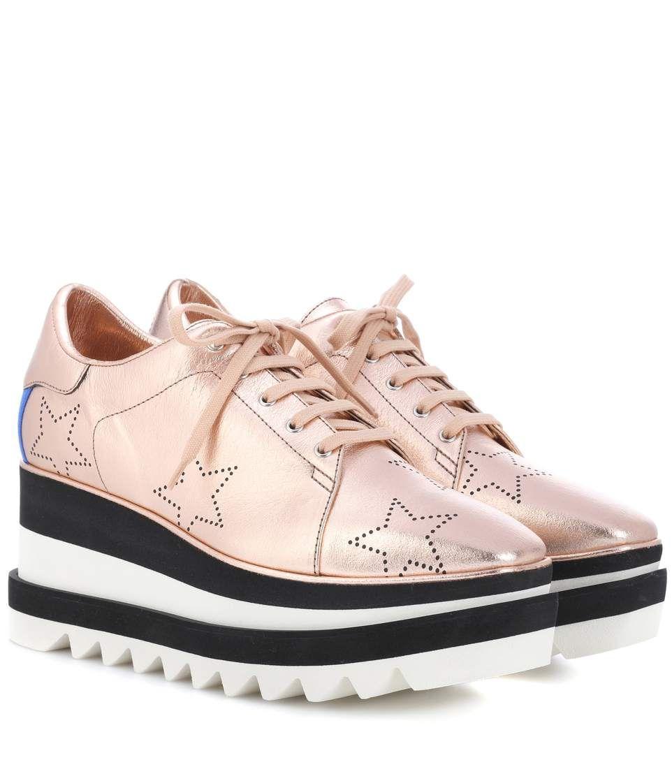 Sneak-elyse Faux-leather Platform Shoes