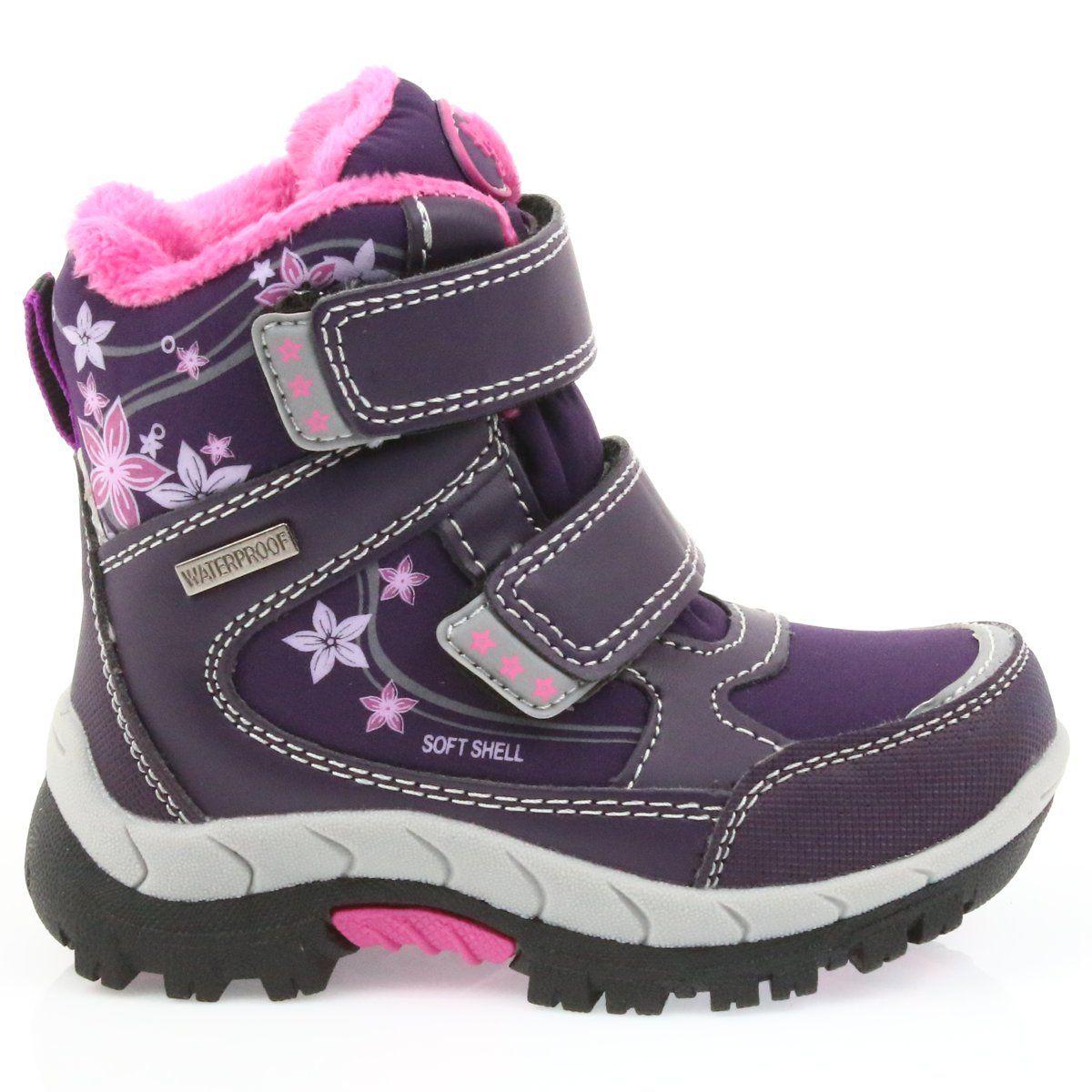 American Club American Kozaki Buty Zimowe Z Membrana 3121 Fioletowe Boots Winter Boot Shoes