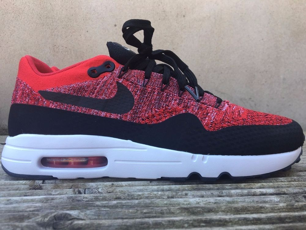 Nike Air Max 1 Ultra 2.0 Flyknit red and black sneaker
