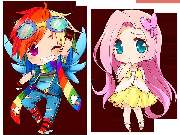 Rainbow Dash + Fluttershy by on