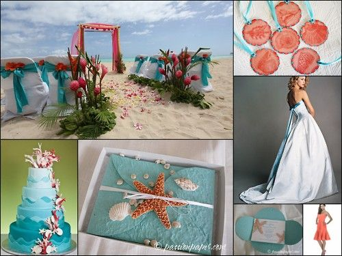 turquoise wedding cake decorations | Pin Wedding Collage I Made Oce ...